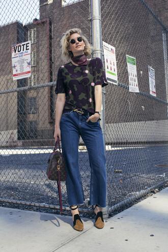 zanita blogger shirt jeans shoes bag belt sunglasses jewels scarf