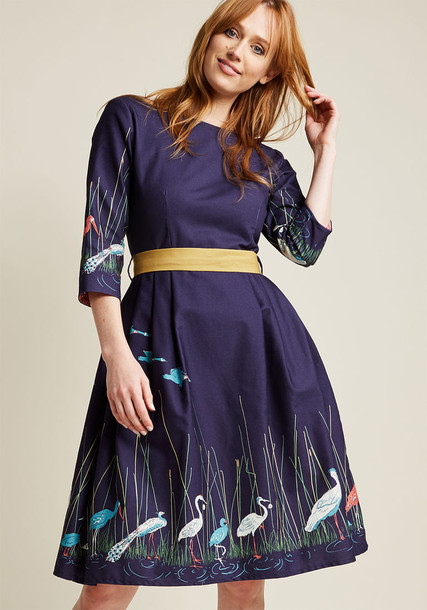 Palava dress midi dress midi blue