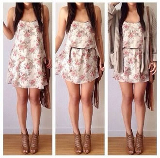 dress cardigan floral dress