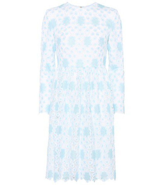 Huishan Zhang dress lace dress lace blue