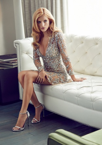 dress bella thorne silver embroidered silver dress party dress