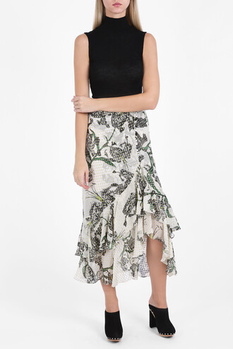 skirt floral skirt women floral white