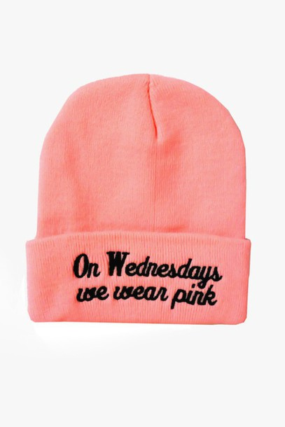 hat pink on wensdays we wear pinkk