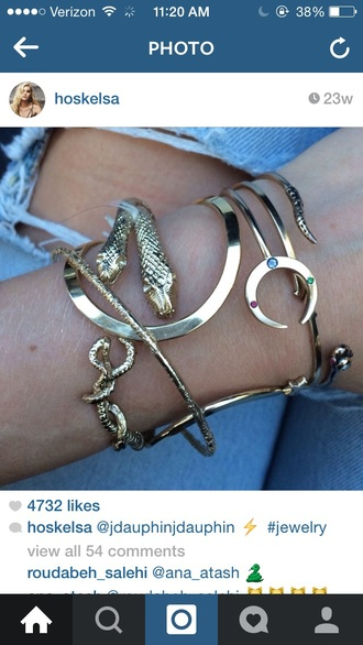 jewels hoskelsa snake arm band bracelets gold jewelry