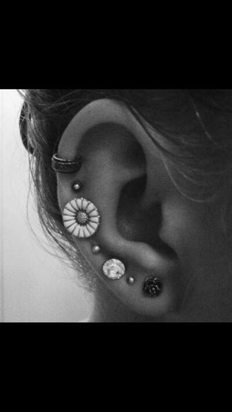 jewels earrings ear piercings jewlery piercing piercing rings