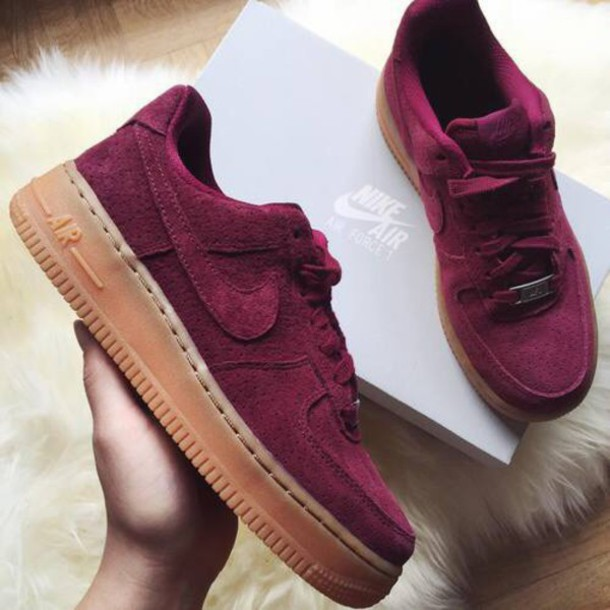 Air Force 1 07 Trainers In Burgundy Velvet - Red Nike wNf8ZxJyA