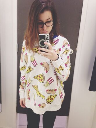 sweater food shirt pizza t-shirt sweet cool camera iphone case