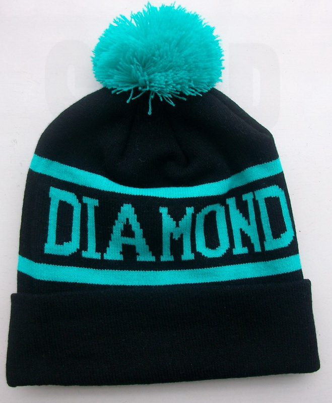 c26311e4cd DIAMOND SUPPLY CO Knit Beanie Hat With Black Teal