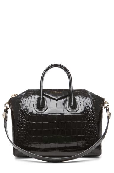 Medium antigona handbag in black