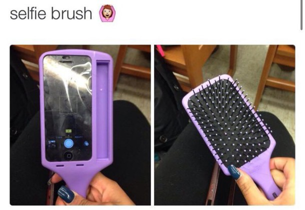 phone cover iphone iphone case brush iphone cover hair accessory selfie hair cute