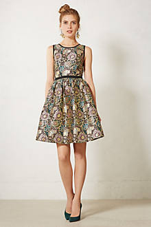 Robe en brocart Starshine - anthropologie.com