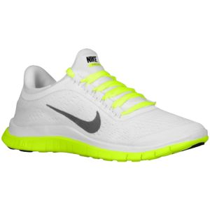 Nike Free 3.0 V5 - Women's - Running - Shoes - White/Black/Volt