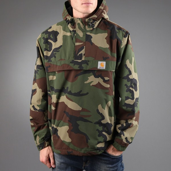 Jacket: carhartt, camouflage, camo jacket, casual, hipster ...