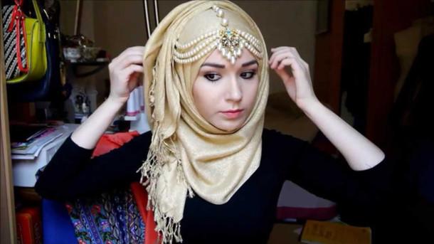jewels headpeice head jewels hijab muslim outfit scarf jewelry headband
