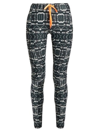 leggings yoga print black pants