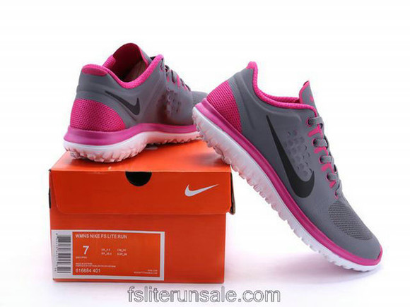 sportswear shoes nike nike fs lite run running grey peach sportshoes