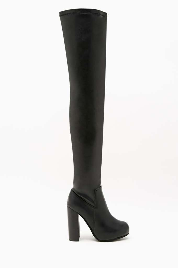 Jeffrey Campbell Kitsap Knee High Boot in  Shoes Boots at Nasty Gal
