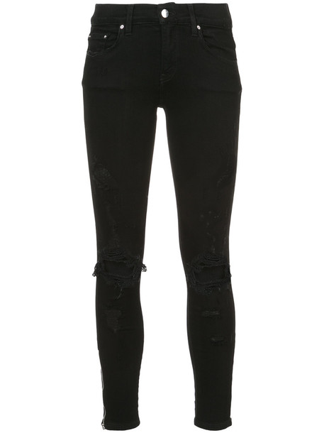 Amiri jeans skinny jeans ripped skinny jeans women spandex ripped cotton black