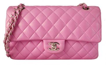 4cf1389158d5 Chanel - Chanel Pink Quilted Lambskin Classic 2.55 Double Flap Bag |  MALLERIES