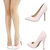 Blush Light Pink White Two Tone Pointy Toe High Heel Stiletto Womens Pump Sandal | eBay