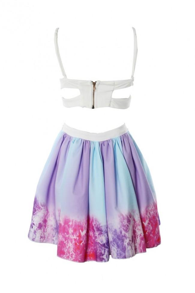 Cosmic rainbow dress