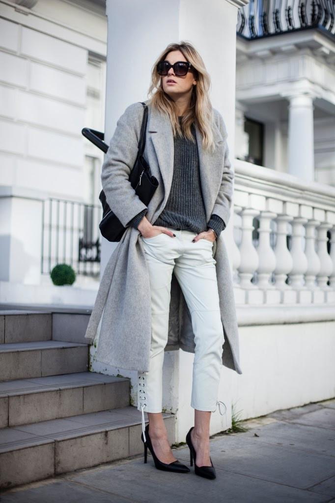 """""""modern minx"""" long tie waist grey wool coat – glamzelle"""