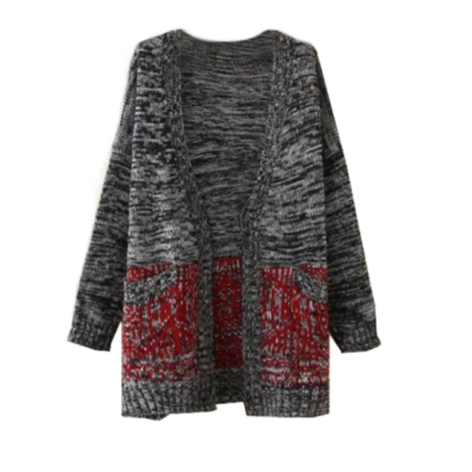Oversize cape dolman sleeve cardigan with pockets