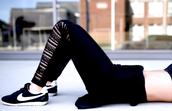 krystal schlegel,blogger,nike,black sneakers,black leggings,black lace,workout,workout leggings,sports shoes