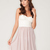 Buy Motel Annali Strapless Cream Bustier Dress in Natural at Motel Rocks