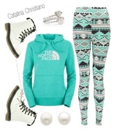 leggings,north face,boots,pearl earrings,heart jewelry,shoes,mint