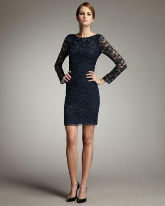 Diane von furstenberg zarita lace dress, deep teal