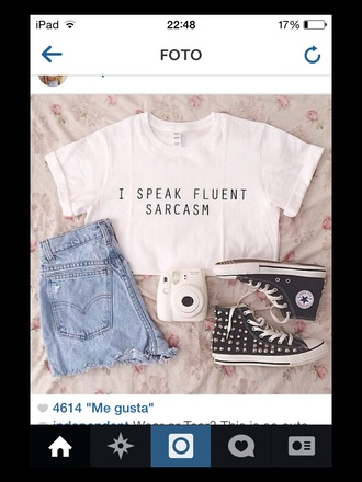 white t-shirt t-shirt crop tops sarcasm beautifull perfect sexy text tee