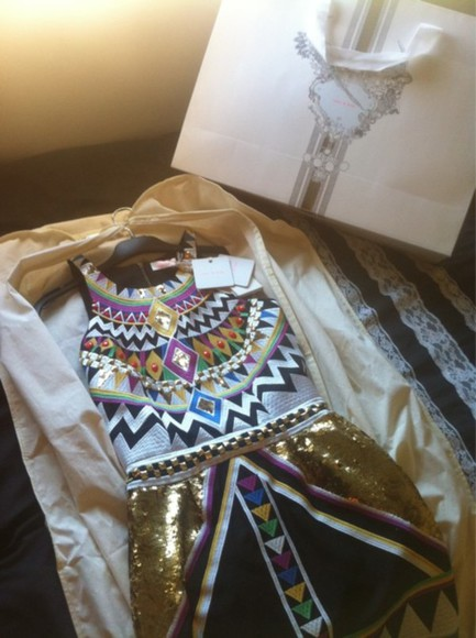 dress egyptian sequin glitter dress glitter aztec aztec print aztec dress sequins gold sequins colorful