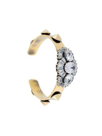 white metallic jewels