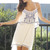 Double Layered Embroidered White Dress