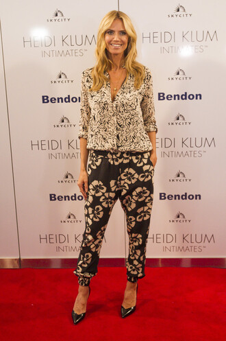 pants blouse heidi klum