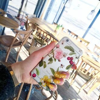 phone cover yeah bunny iphone cover cherry floral floral phone case