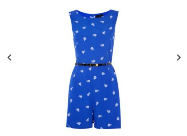 jumpsuit blue dress pattern belt