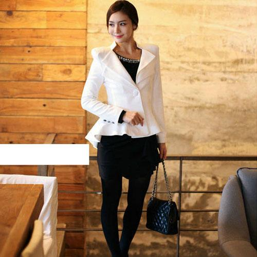 Fashion Women Elegant Slim Suit One Button Casual Blazer Swallowtail Jacket Coat | eBay
