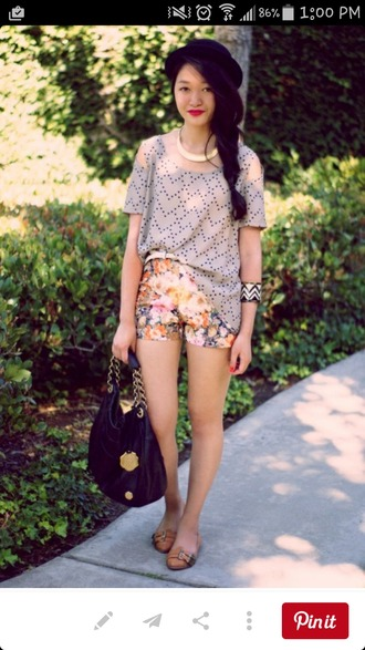 shorts flowered shorts flower print shorts spring shorts spring summer shorts