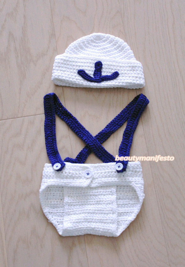 Baby Newsboy Outfit Suspenders Bow tie Diaper Cover