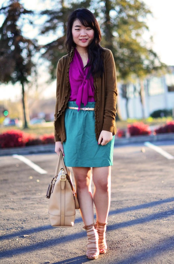 daily disguise shirt skirt sweater bag shoes