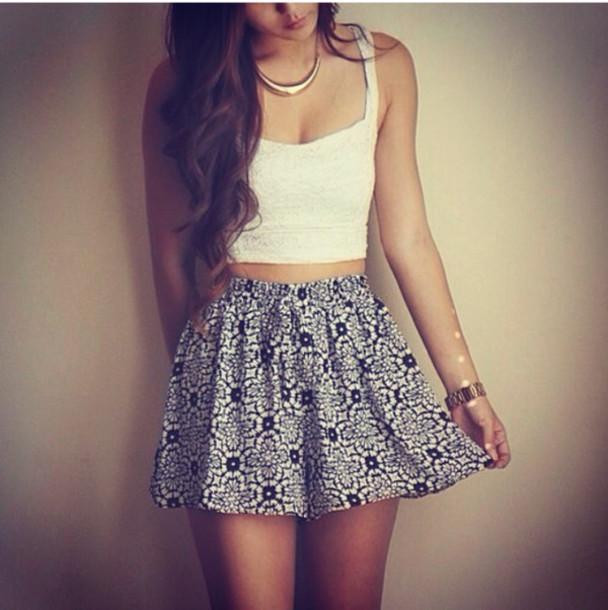 skirt dress tank top like top crop tops skater skirt cute outfits shorts