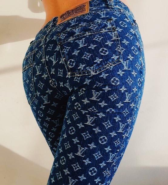 Pants Jeans Lv Monogram Louis Vuitton Pantalones Jeans