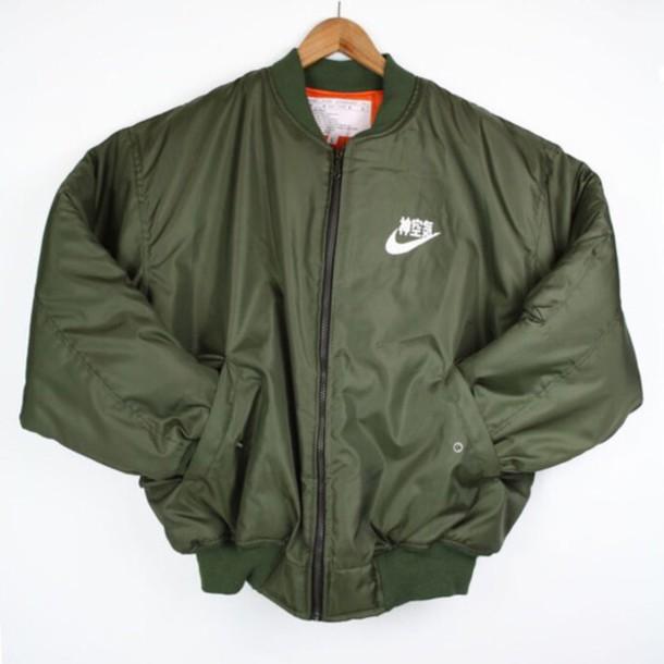 jacket nike jacket bomber jacket nike green bomber jacket green