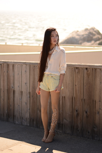 art in our blood jewels blouse belt shorts shoes