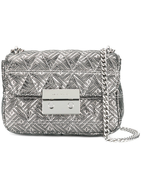 women bag shoulder bag grey metallic