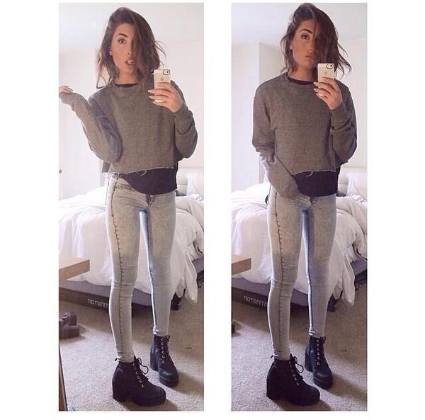 jeans lauren elizabeth youtuber outfit t-shirt shoes