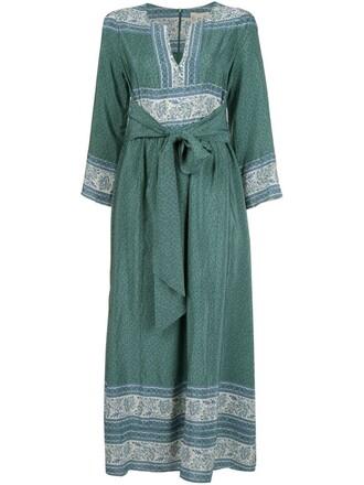 dress midi dress midi floral print green