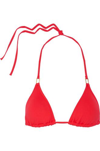 bikini bikini top triangle bikini triangle red swimwear